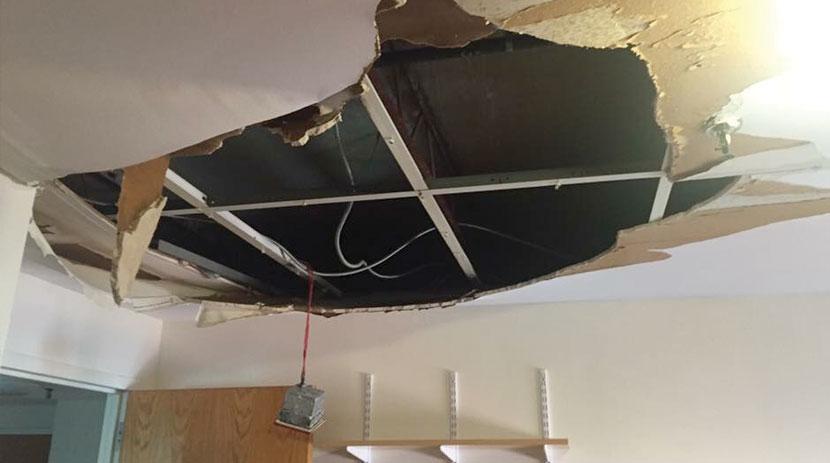 ceiling collapse - valdivia law